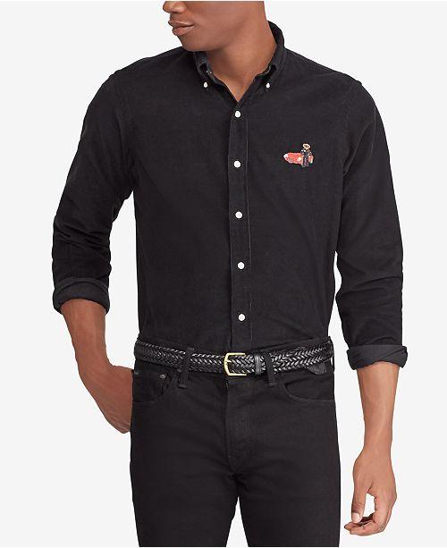 923cb1f9c297 ... Polo Ralph Lauren Men s Big   Tall Classic Fit Cotton Polo Bear Shirt  ...