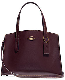 COACH Charlie 28 Carryall in Crossgrain Patent Leather