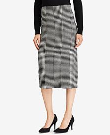 Lauren Ralph Lauren Plaid Wool Pencil Skirt