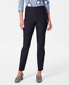 Charter Club Pull-On Tummy-Control Pants, Created for Macy's