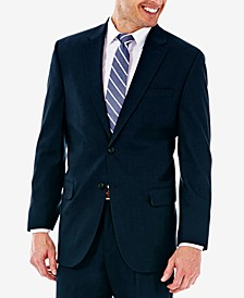 J.M. Men's Classic/Regular Fit Stretch Sharkskin Suit Jacket
