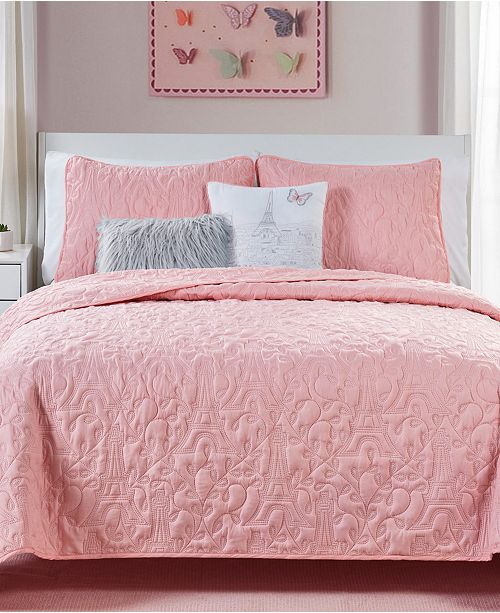 VCNY Home When in Paris 4-Pc. Twin Quilt Set
