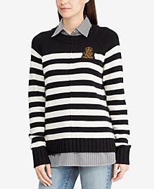 Lauren Ralph Lauren Bullion Patch Layered-Look Shirt