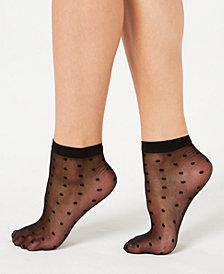 I.N.C. Sheer Dot Anklet Socks, Created for Macy's