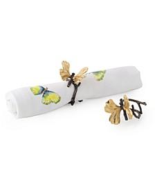 Butterfly Ginkgo Napkin Ring Set, Set of 4