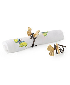 Michael Aram Butterfly Ginkgo Napkin Ring Set, Set of 4