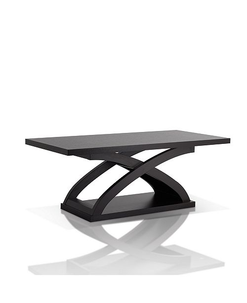 Furniture of America Porthos X-Base Coffee Table