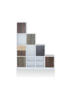 Newark Multi-colored Panels Display Case