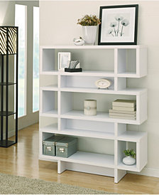 Caila Modern Geometric Bookcase