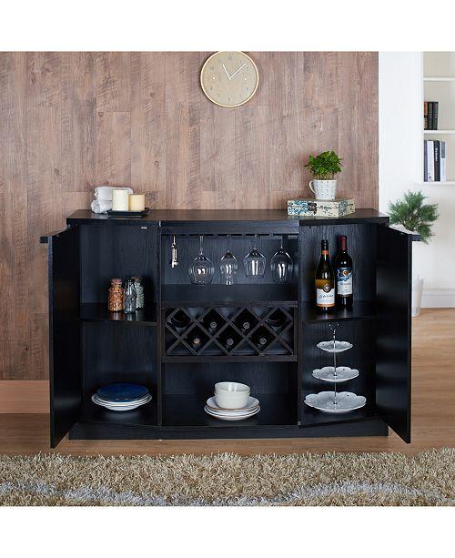 Furniture Of America Bruno Wine Rack Buffet