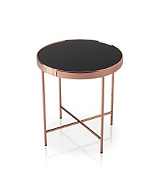 Vida Round Two-Tone End Table