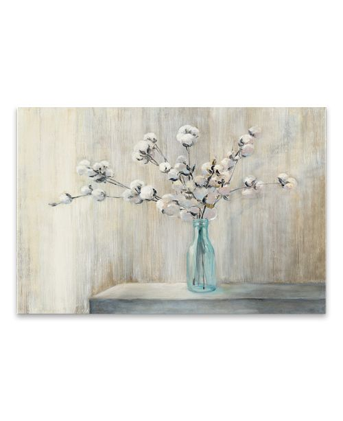 Artissimo Designs Cotton BouquetCrop Hand Embellished Canvas