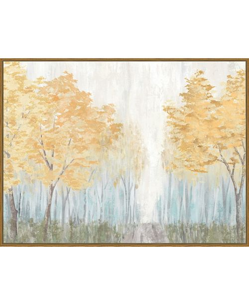 Artissimo Designs In the Forest Framed Hand Embellished Canvas