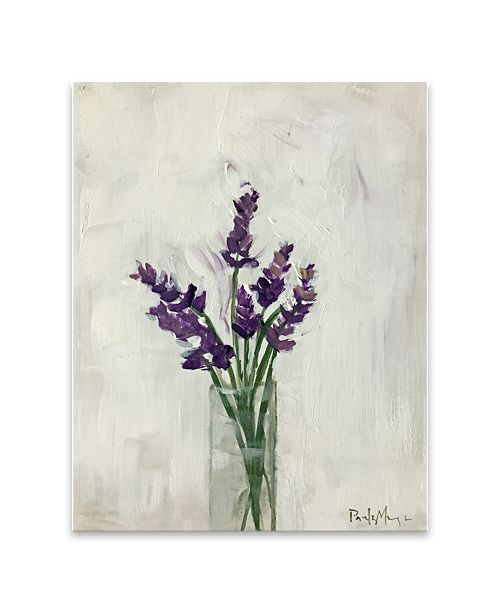 "Artissimo Designs Lavender Bouquet Hand Embellished Canvas Art - 22"" W x 28"" H x 1.5"" D"
