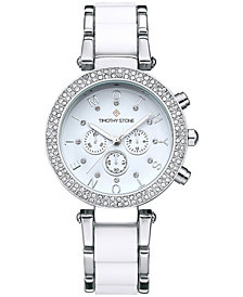 Womens Desire Crystal Accented TwoTone Bracelet Boyfriend Watch