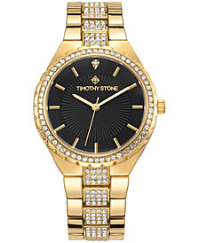 Granton Women's 'Gala' Crystal Adorned Bezel Bracelet Watch 39mm