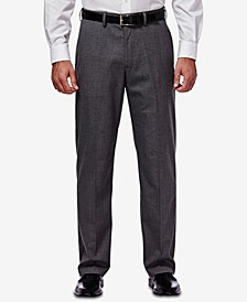 J.M. Men's Classic/Regular Fit Stretch Sharkskin Suit Pants