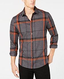 Alfani Men's Brushed Plaid Shirt, Created for Macy's