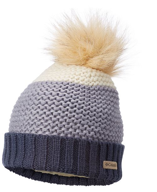 2d0cd38bd56 Columbia Holly Peak Faux-Fur-Pom Fleece-Lining Beanie - Women s ...
