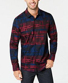 Alfani Men's Wokie Jacquard Shirt, Created for Macy's