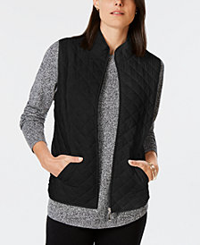 Karen Scott Quilted Puffer Vest, Created for Macy's