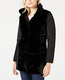Maison Jules Reversible Faux-Fur Jacket, Created for Macy's