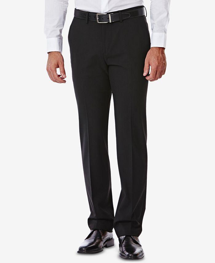 Haggar - Men's 4-Way Stretch Slim-Fit Suit Pants
