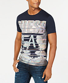 GUESS Men's Streaked Graphic T-Shirt