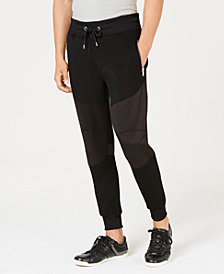 GUESS Men's Moto Colorblocked Jogger Pants