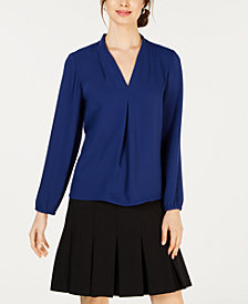 Nine West V-Neck Long-Sleeve Top