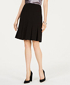 Nine West Pleat-Bottom Skirt