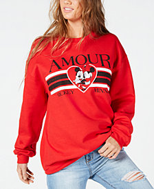Modern Lux Juniors' Amour Graphic-Print Sweatshirt