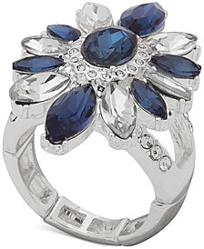 Anne Klein Stone & Crystal Stretch Ring