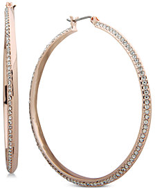 "Anne Klein Pavé 2"" Hoop Earrings"