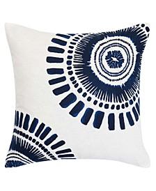 Samba De Roda Circle Embroidered Square Pillow