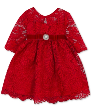 Vintage Style Children's Clothing: Girls, Boys, Baby, Toddler Rare Editions Baby Girls Illusion Lace Dress $42.00 AT vintagedancer.com