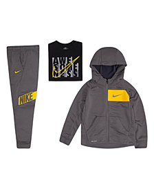Nike Little Boys Zip-Up Hoodie, Awesome-Print T-Shirt & Logo Pants