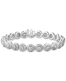 EFFY® Diamond Halo Tennis Bracelet (4-1/2 ct. t.w.) in 14k Gold