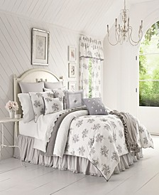 Sabrina Grey Queen Comforter Set
