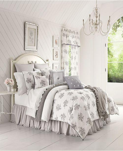 Piper & Wright Sabrina Grey Queen Comforter Set