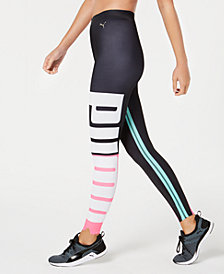 Puma Colorblocked Logo Varsity-Stripe Leggings