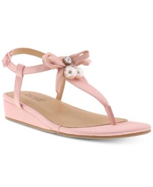 Image of Badgley Mischka Little & Big Girls Talia Satin Bow Sandals