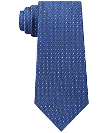 Calvin Klein Men's Medallion Slim Silk Tie