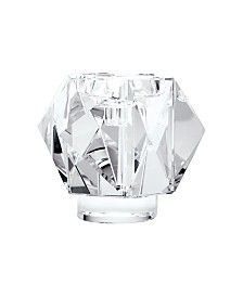 Faceted Star Crystal Candleholder - Large.