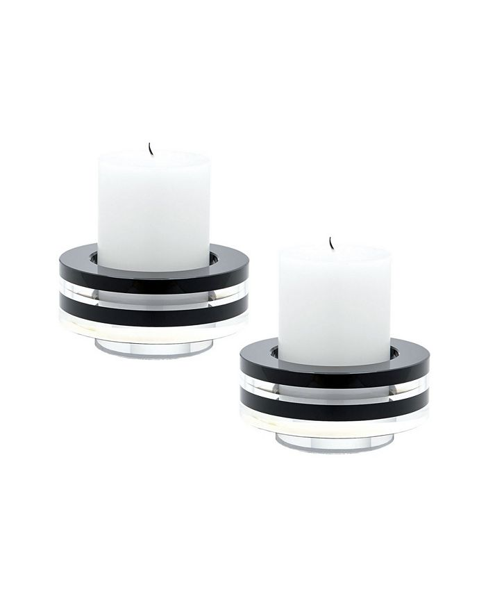 Dimond Home - Tuxedo Crystal Candleholder - Set Of2