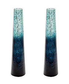 Emerald Ombre Snorkel Vases- Set of 2