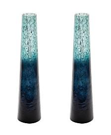 Emerald Ombre Snorkel Vases- Set of 2