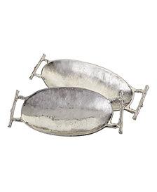 Twig Handled Tray - Nickel