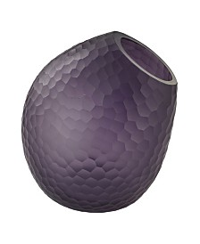 Cut Glass Horn Vase