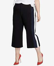 RACHEL Rachel Roy Trendy Plus Size Gwen Cropped Pants